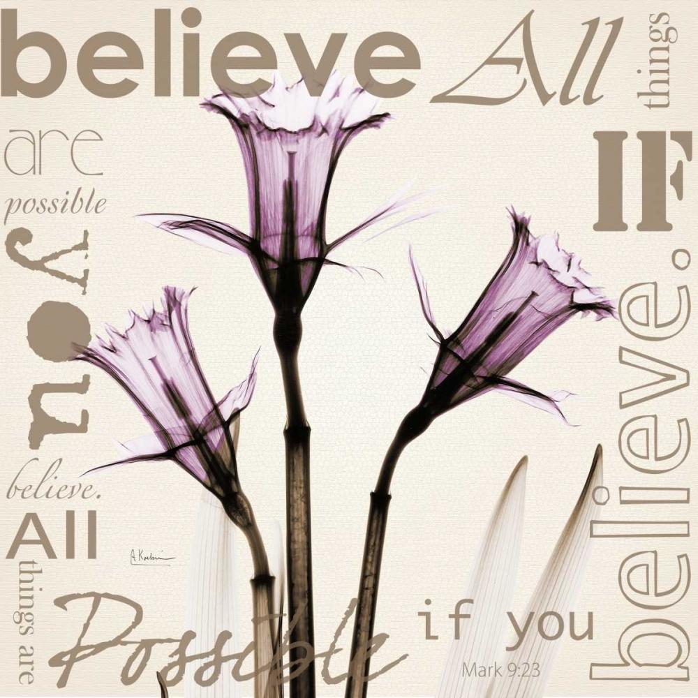 konfigurieren des Kunstdrucks in Wunschgröße Believe - Violet Daffodils von Koetsier, Albert