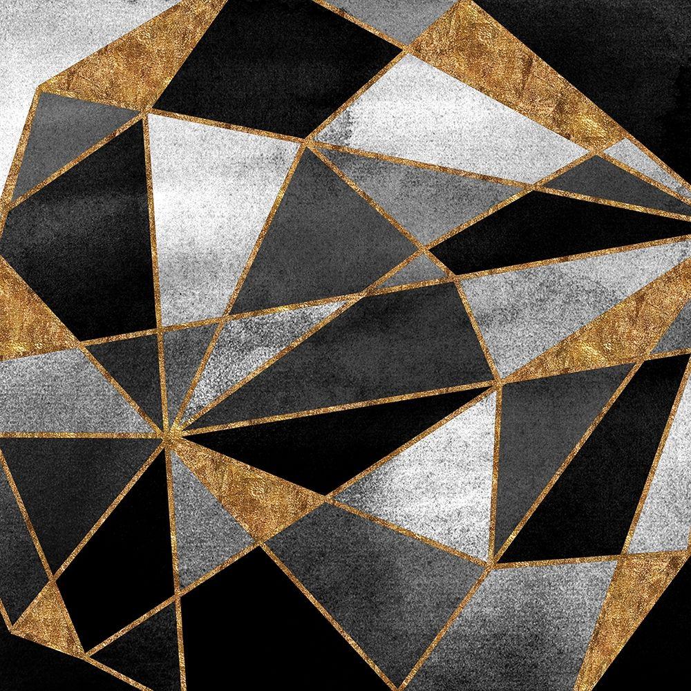 konfigurieren des Kunstdrucks in Wunschgröße Black Geo Abstract von Einzelbilder