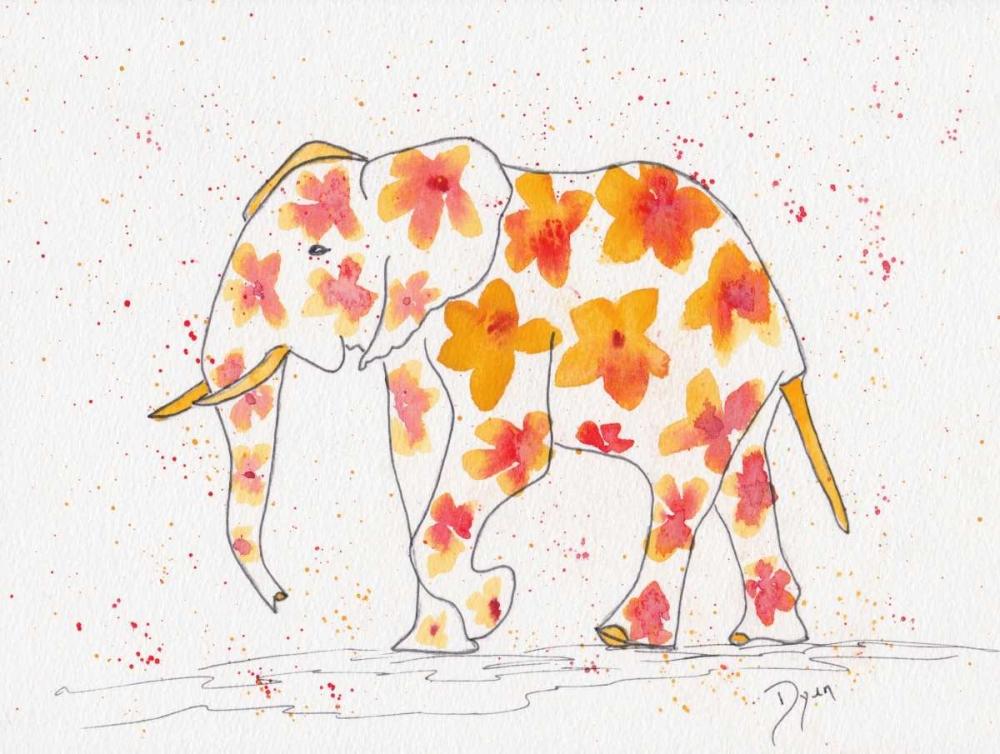konfigurieren des Kunstdrucks in Wunschgröße Elephant Flower von Dyer, Beverly