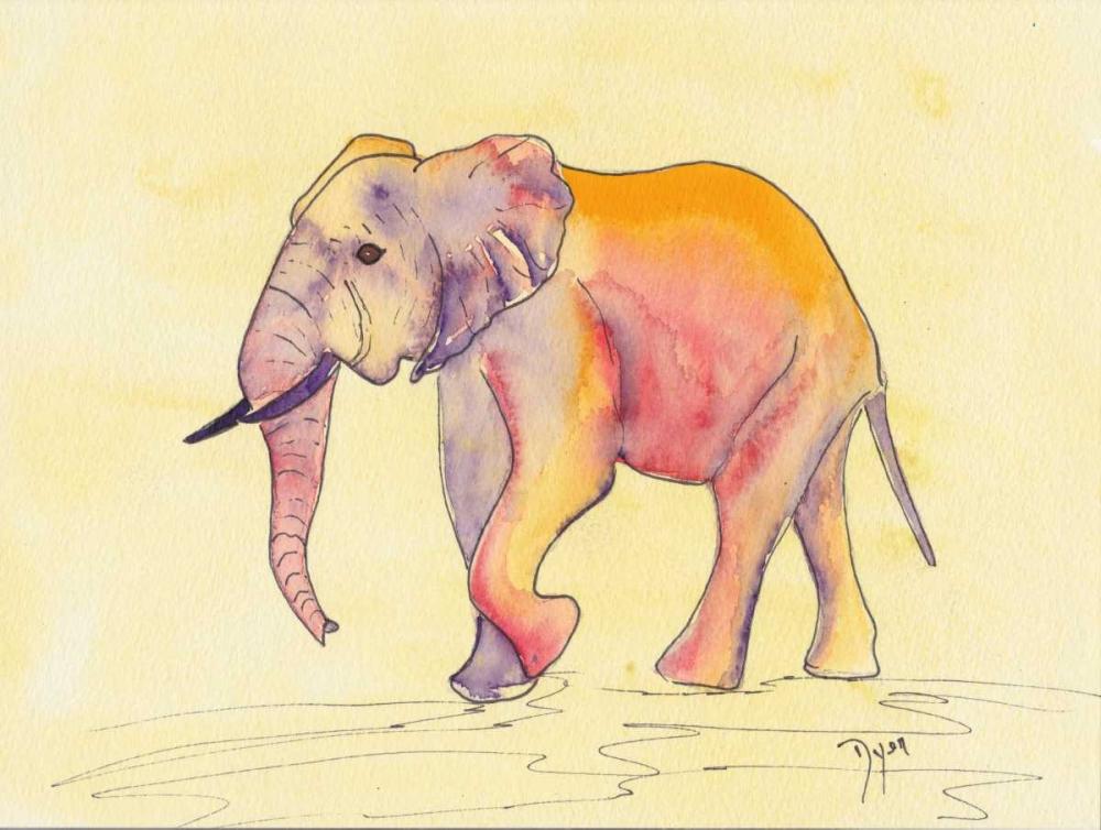 konfigurieren des Kunstdrucks in Wunschgröße Rainbow Elephant von Dyer, Beverly