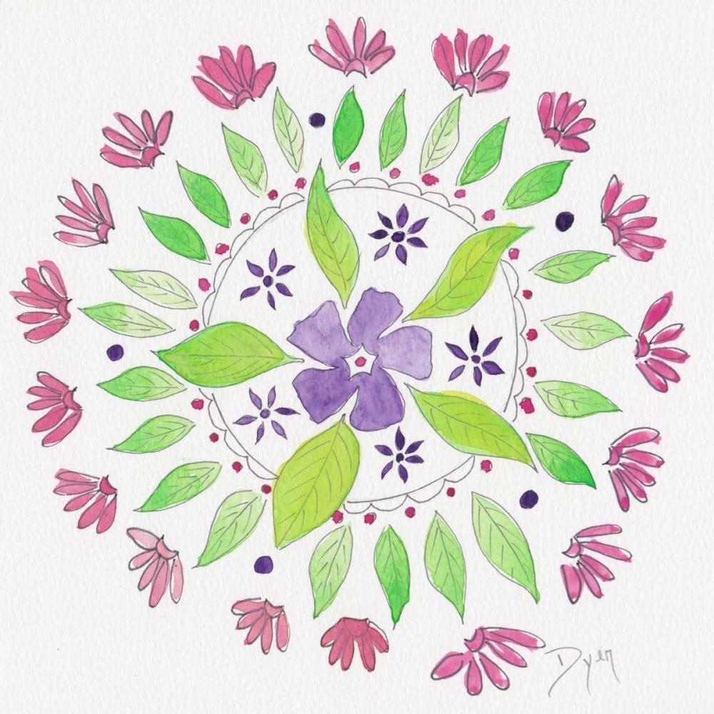 konfigurieren des Kunstdrucks in Wunschgröße Nature Mandala I von Dyer, Beverly