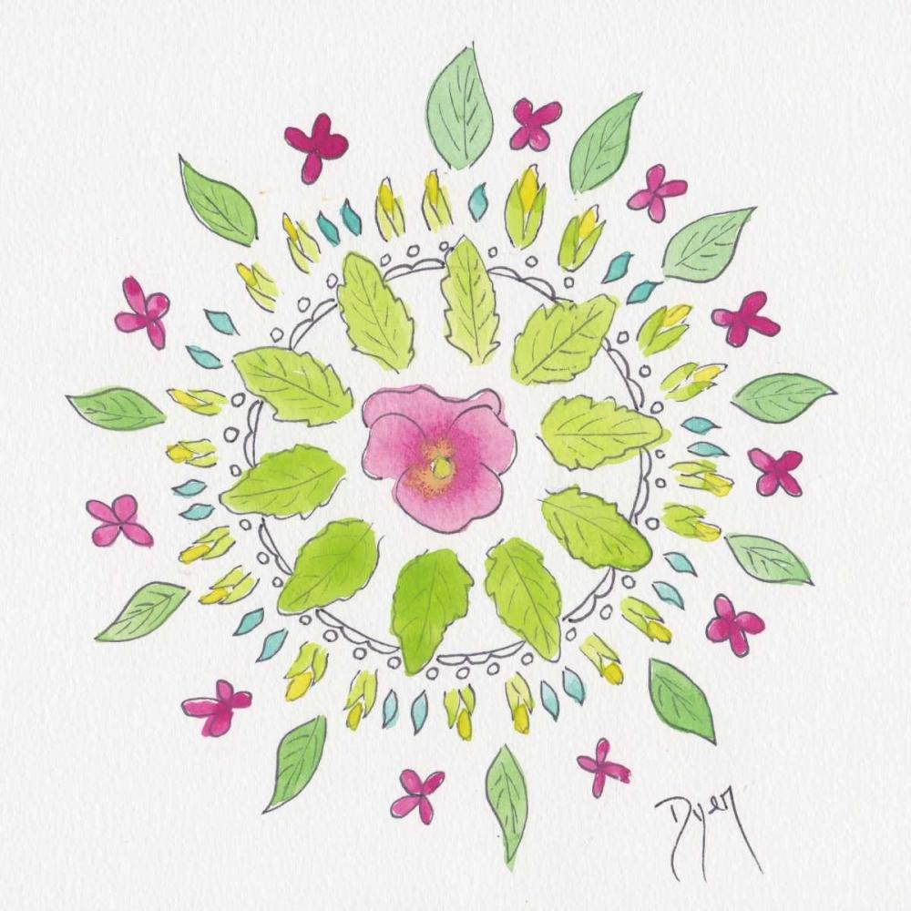 konfigurieren des Kunstdrucks in Wunschgröße Nature Mandala II von Dyer, Beverly