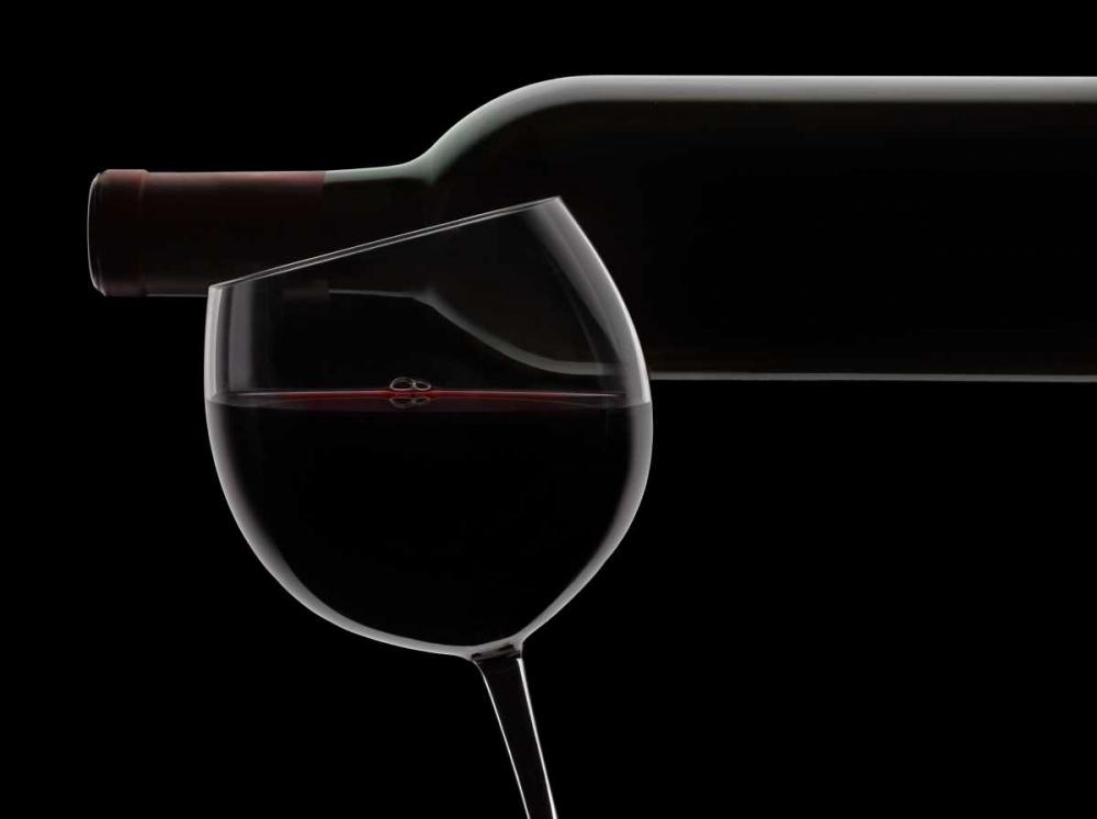 konfigurieren des Kunstdrucks in Wunschgröße Red Wine Silhouette von Seidman, Barry