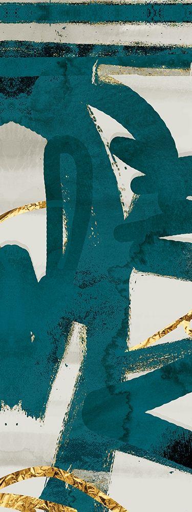 konfigurieren des Kunstdrucks in Wunschgröße Teal and Flare A von Alvarez, Cynthia
