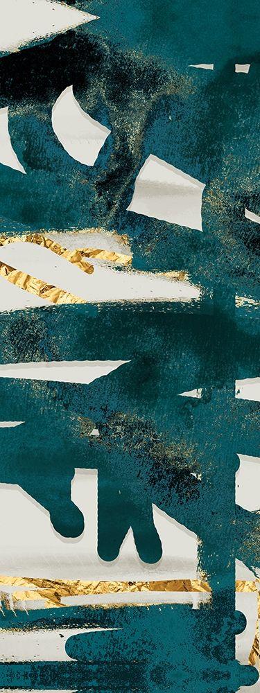 konfigurieren des Kunstdrucks in Wunschgröße Teal and Flare D von Alvarez, Cynthia