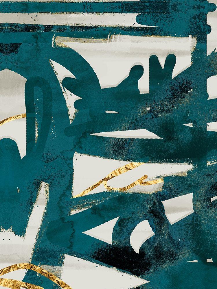 konfigurieren des Kunstdrucks in Wunschgröße Teal and Flare 1 von Alvarez, Cynthia