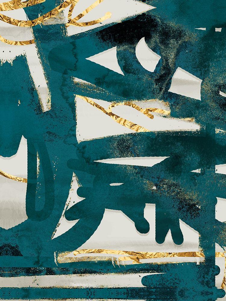 konfigurieren des Kunstdrucks in Wunschgröße Teal and Flare 2 von Alvarez, Cynthia