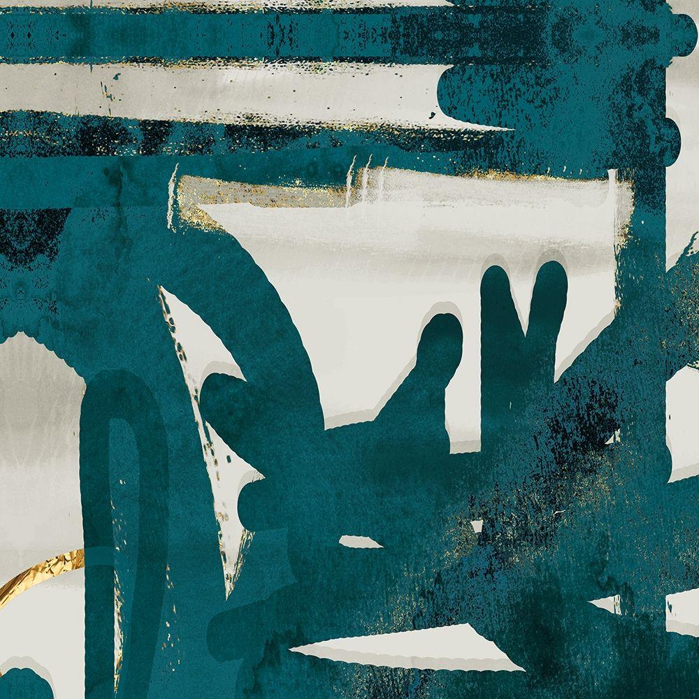 konfigurieren des Kunstdrucks in Wunschgröße Teal and Flare Square A von Alvarez, Cynthia