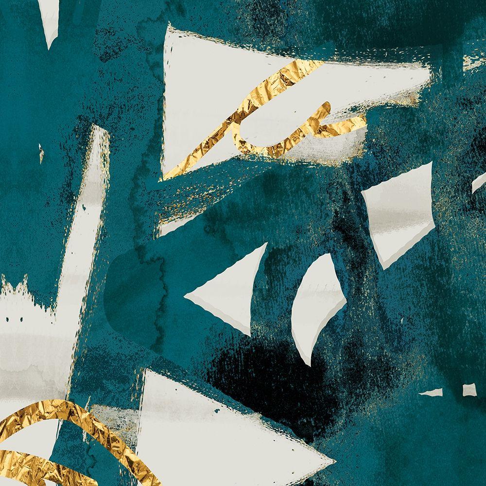 konfigurieren des Kunstdrucks in Wunschgröße Teal and Flare Square B von Alvarez, Cynthia