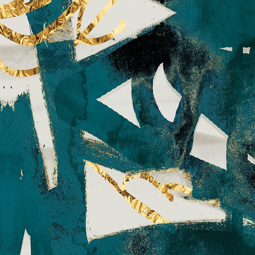 konfigurieren des Kunstdrucks in Wunschgröße Teal and Flare Square C von Alvarez, Cynthia