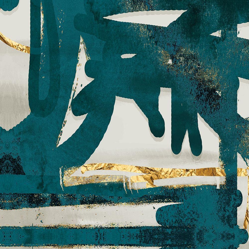 konfigurieren des Kunstdrucks in Wunschgröße Teal and Flare Square D von Alvarez, Cynthia