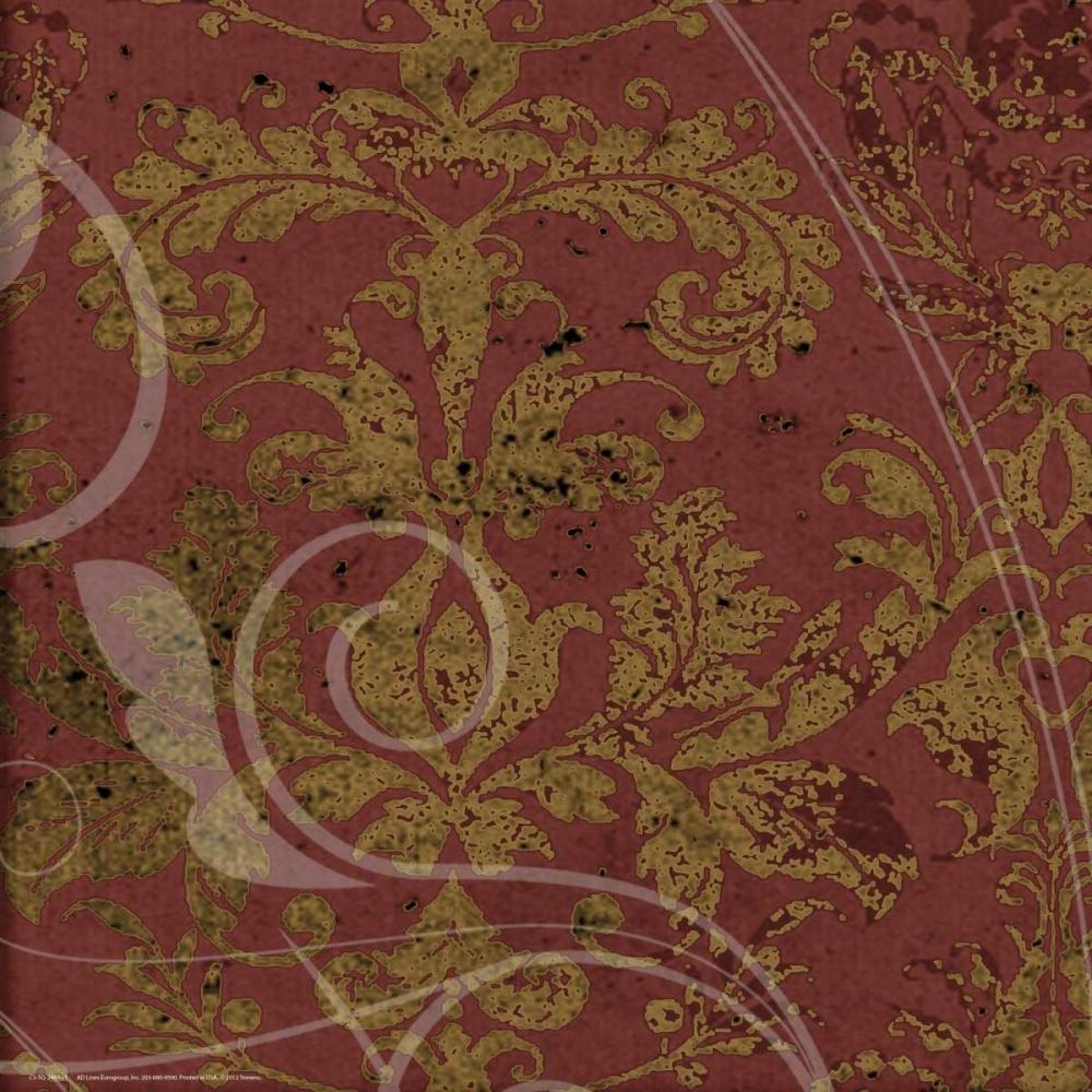 konfigurieren des Kunstdrucks in Wunschgröße Brandy Wine Damask von Stevens, Carole