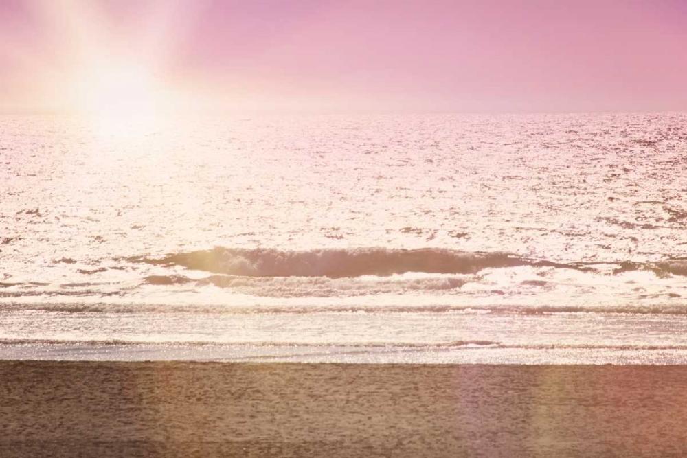 konfigurieren des Kunstdrucks in Wunschgröße Pink Beach Sunset von Davis Ashley