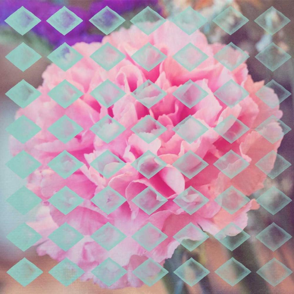 konfigurieren des Kunstdrucks in Wunschgröße Pink Flower diamonds von Davis Ashley