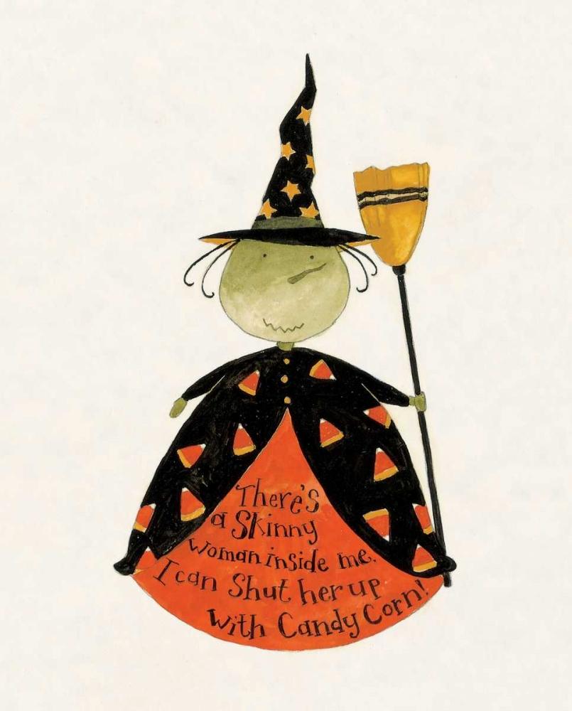 konfigurieren des Kunstdrucks in Wunschgröße Candy Corn Witch von DiPaolo, Dan