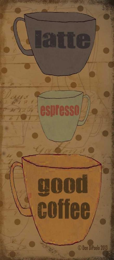 konfigurieren des Kunstdrucks in Wunschgröße Coffee Dots Panel 2 von DiPaolo, Dan