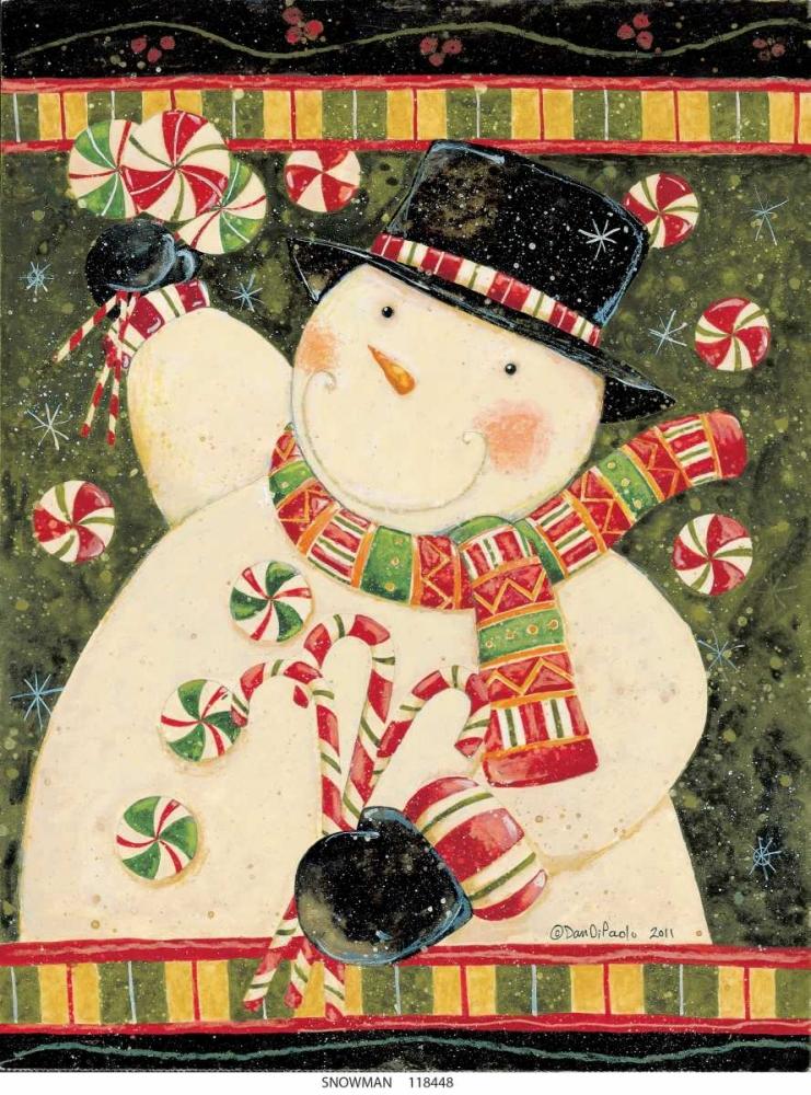 konfigurieren des Kunstdrucks in Wunschgröße Snowman Candy von DiPaolo, Dan
