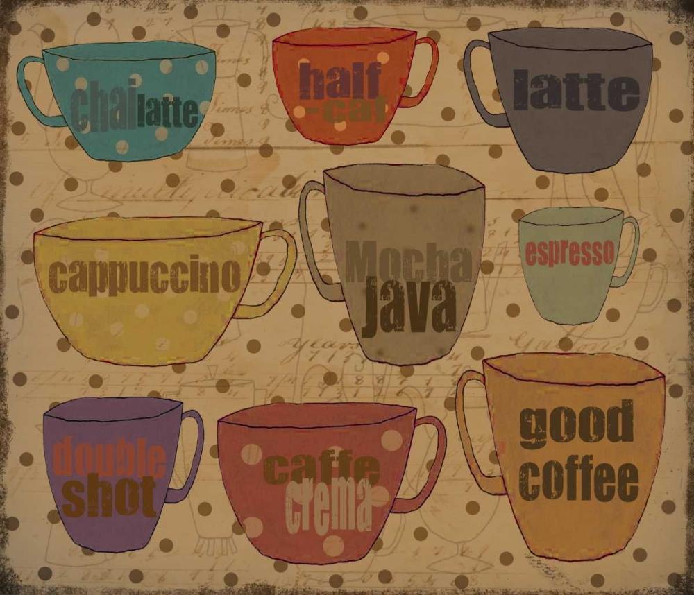 konfigurieren des Kunstdrucks in Wunschgröße Coffee Dots von DiPaolo, Dan