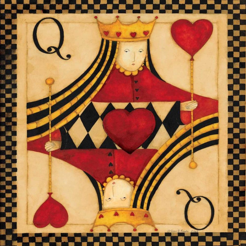 konfigurieren des Kunstdrucks in Wunschgröße Q Hearts von DiPaolo, Dan