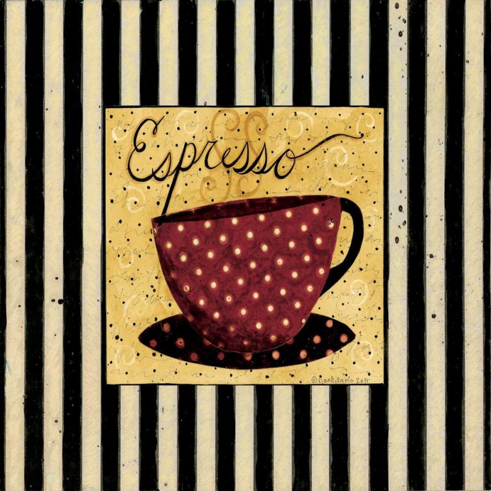 konfigurieren des Kunstdrucks in Wunschgröße Espresso Stripe von DiPaolo, Dan