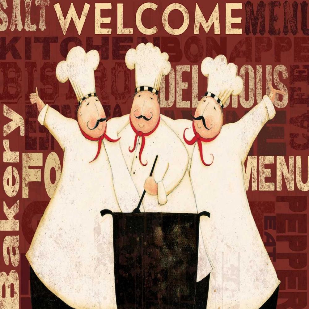 konfigurieren des Kunstdrucks in Wunschgröße Welcome Chef von DiPaolo, Dan