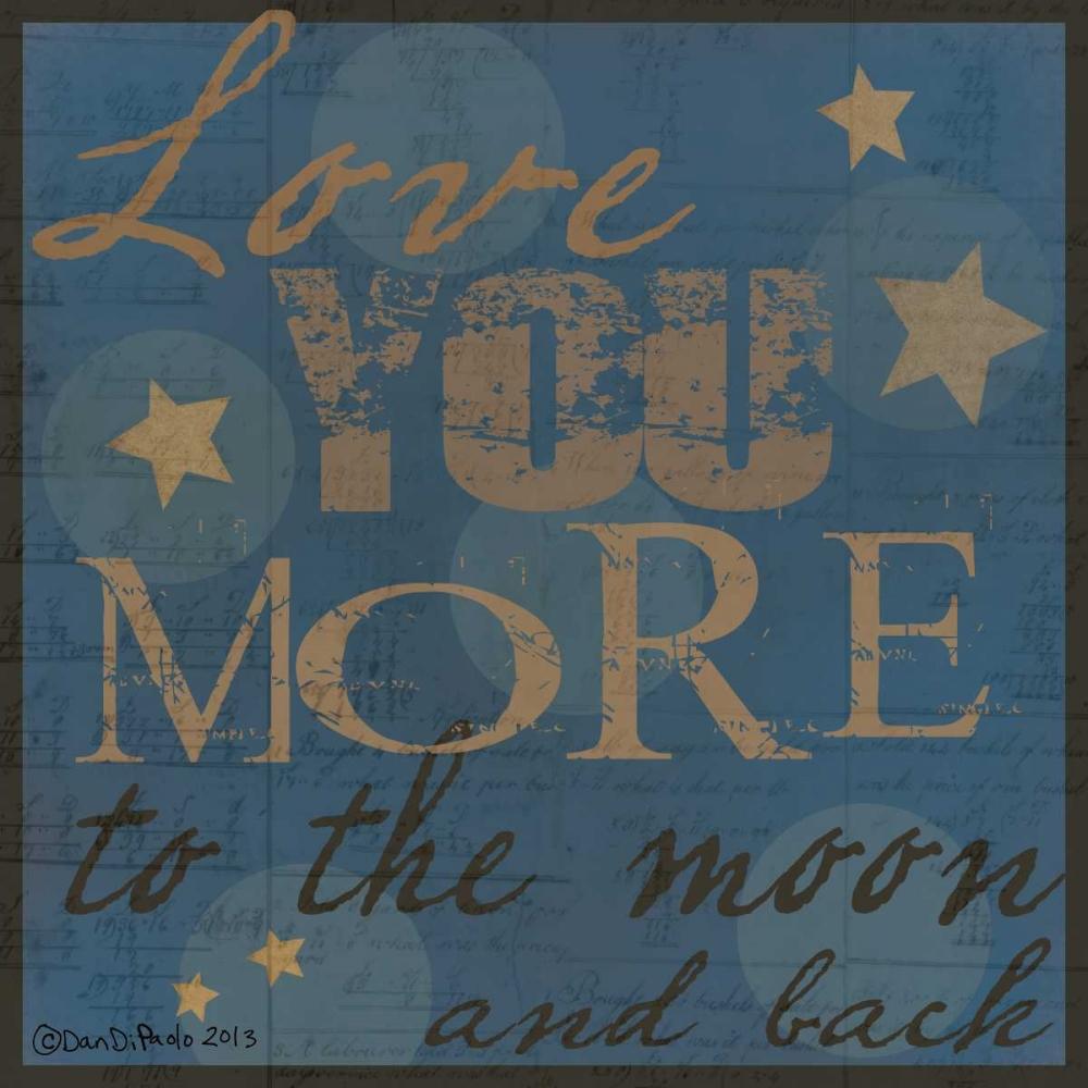 konfigurieren des Kunstdrucks in Wunschgröße Love You More Final von DiPaolo, Dan