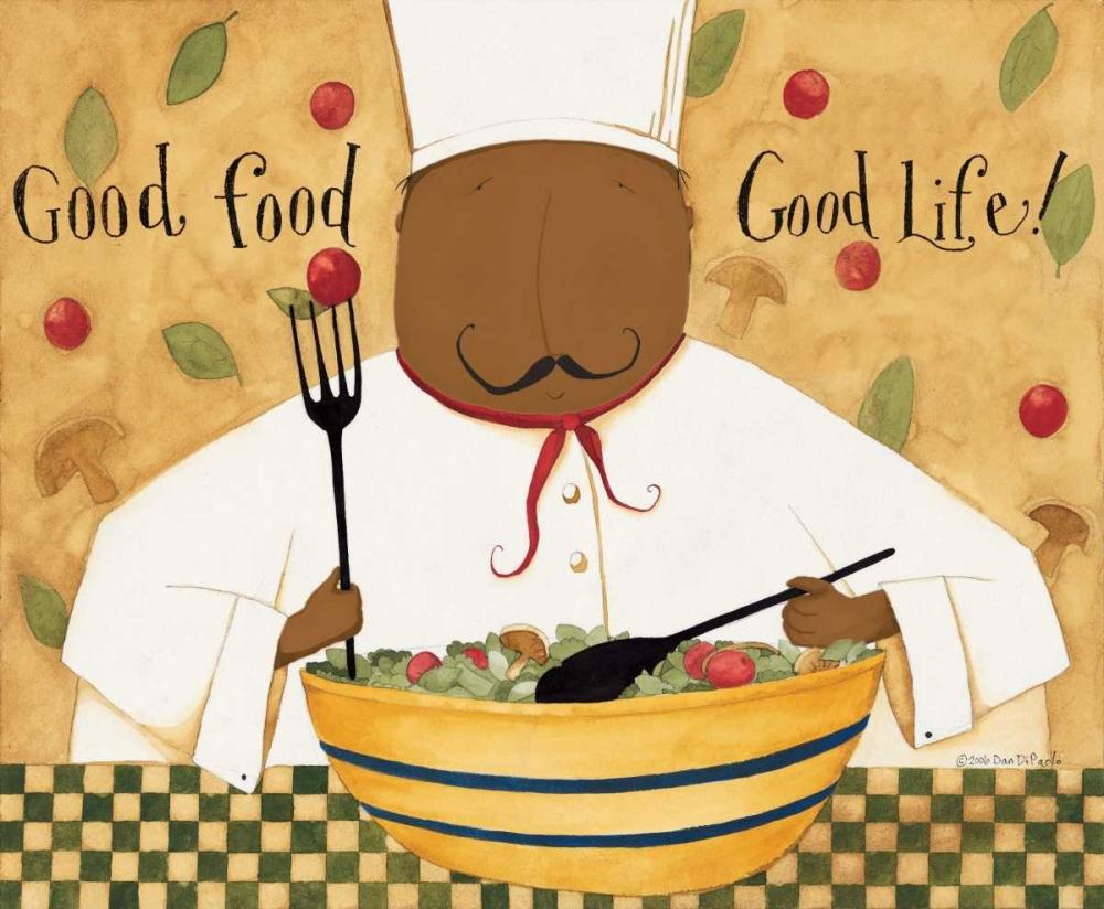 konfigurieren des Kunstdrucks in Wunschgröße Good Food von DiPaolo, Dan
