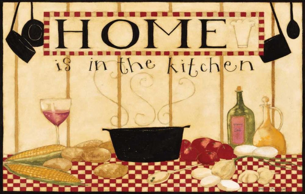 konfigurieren des Kunstdrucks in Wunschgröße Home Is In The Kitchen 2 von DiPaolo, Dan