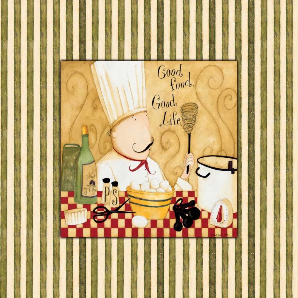 konfigurieren des Kunstdrucks in Wunschgröße Good Food Stripes von DiPaolo, Dan