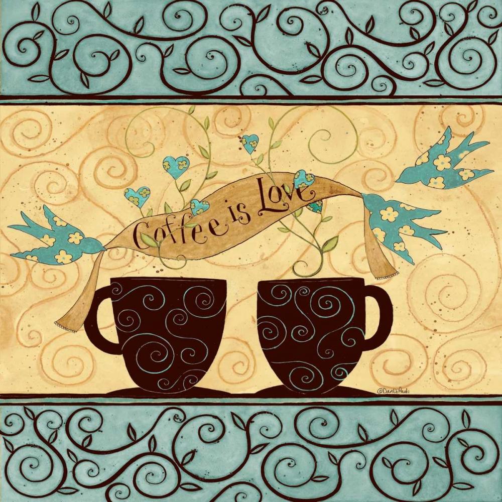 konfigurieren des Kunstdrucks in Wunschgröße Coffee Love von DiPaolo, Dan