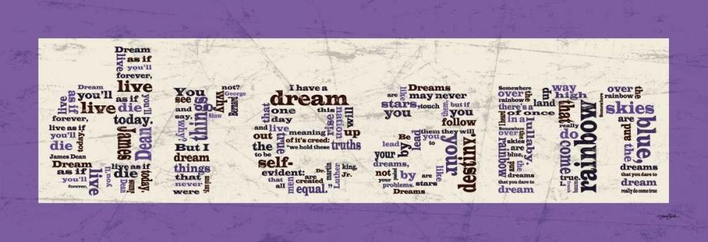 konfigurieren des Kunstdrucks in Wunschgröße Purple Dream von Stimson, Diane