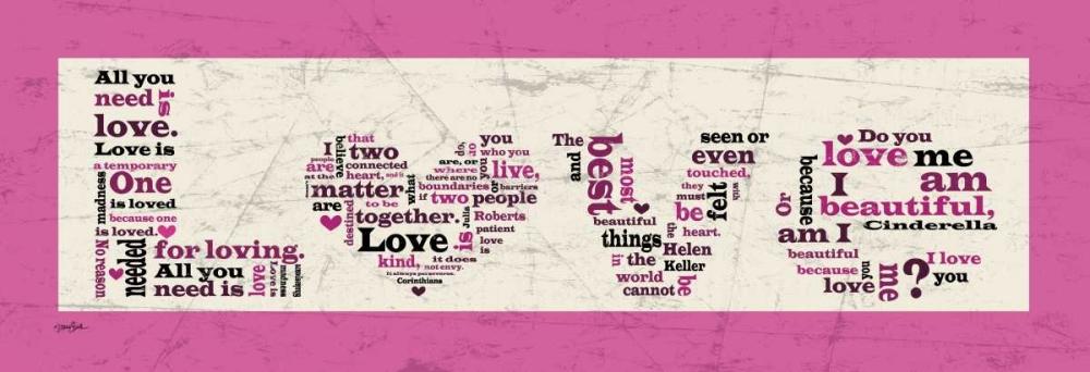 konfigurieren des Kunstdrucks in Wunschgröße Pink Love von Stimson, Diane