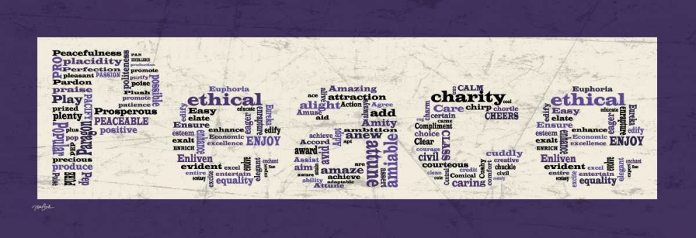 konfigurieren des Kunstdrucks in Wunschgröße Purple Peace von Stimson, Diane