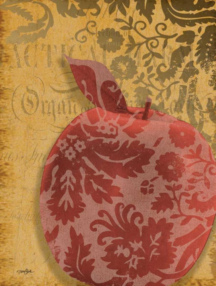 konfigurieren des Kunstdrucks in Wunschgröße Red Apple Damask von Stimson, Diane