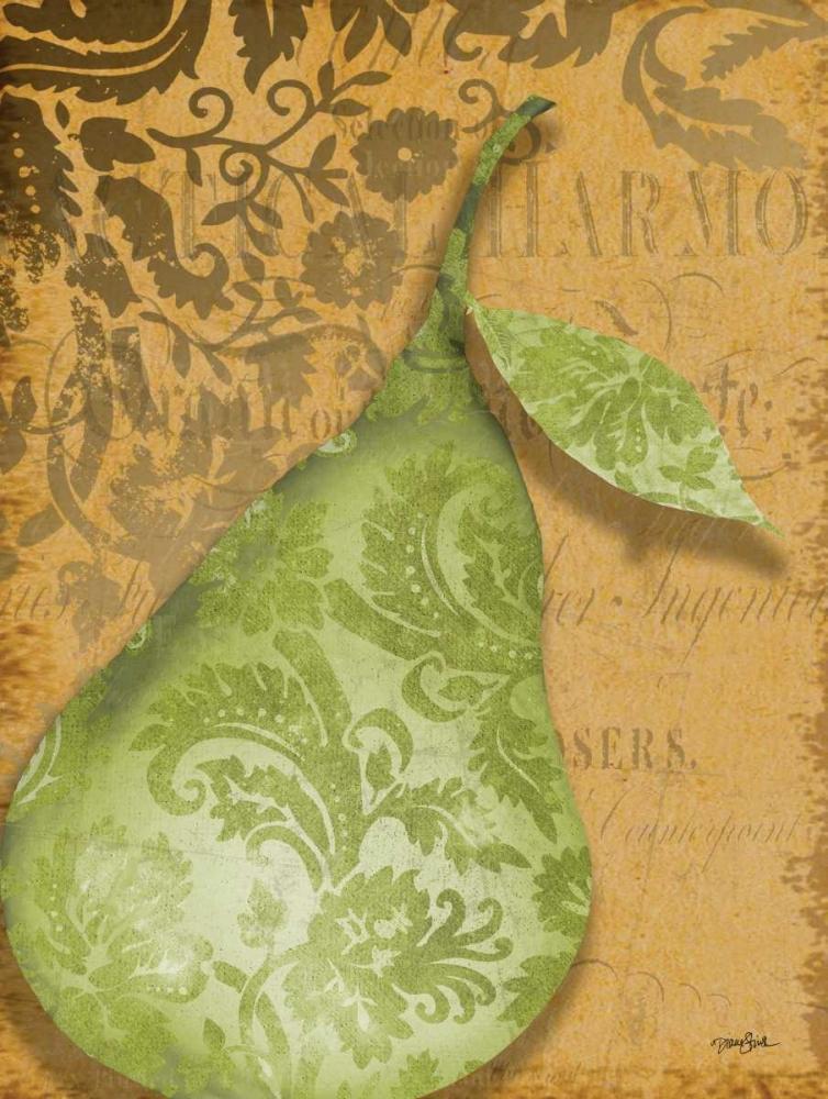konfigurieren des Kunstdrucks in Wunschgröße Green Pear Damask von Stimson, Diane