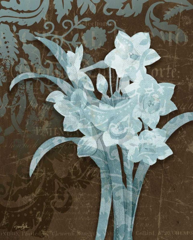 konfigurieren des Kunstdrucks in Wunschgröße Daffodil Damask von Stimson, Diane