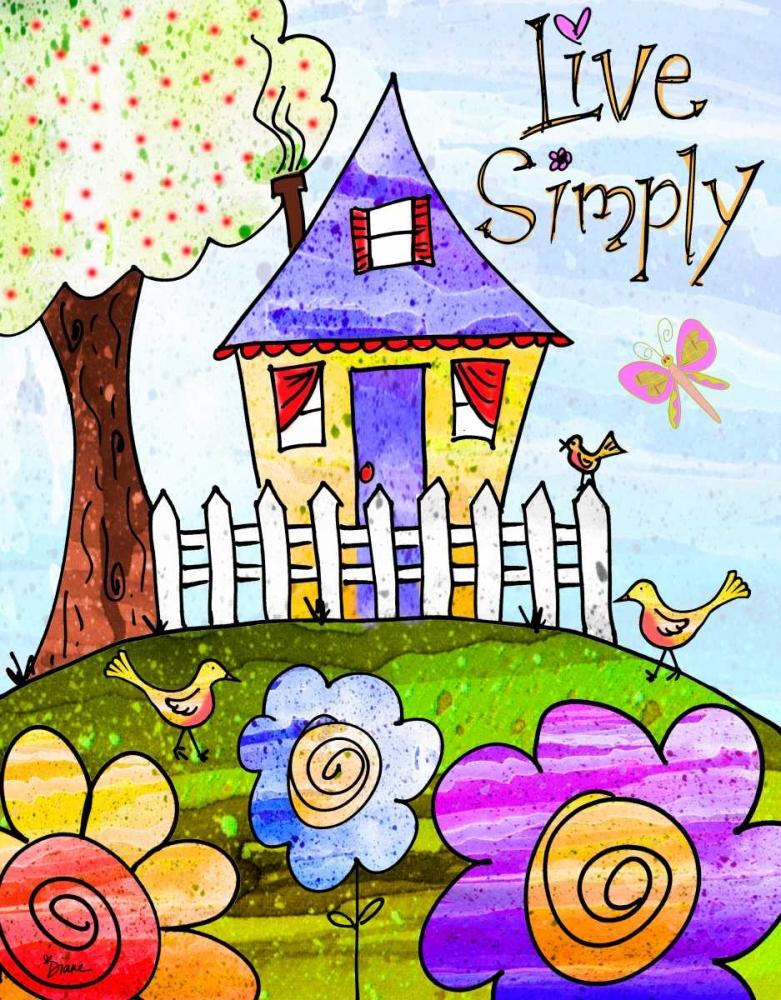 konfigurieren des Kunstdrucks in Wunschgröße Live Simply von Stimson, Diane