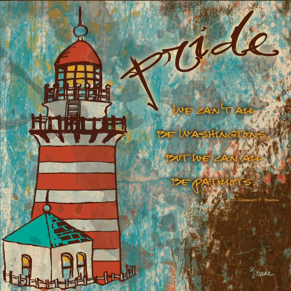 konfigurieren des Kunstdrucks in Wunschgröße Lighthouse 1 von Stimson, Diane
