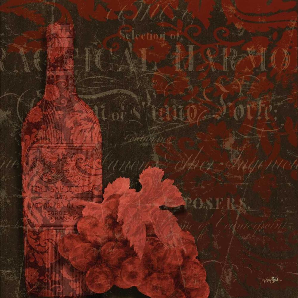 konfigurieren des Kunstdrucks in Wunschgröße Red Wine Damask von Stimson, Diane
