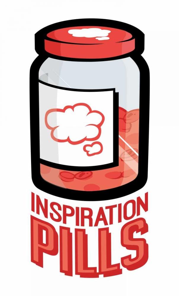 konfigurieren des Kunstdrucks in Wunschgröße Inspiration Pills von Rodriquez Jr, Enrique