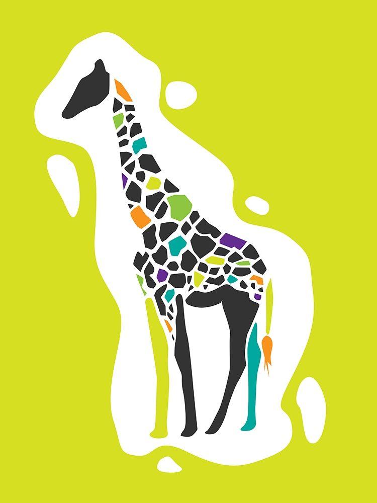 konfigurieren des Kunstdrucks in Wunschgröße Fun Giraffe von Rodriquez Jr, Enrique