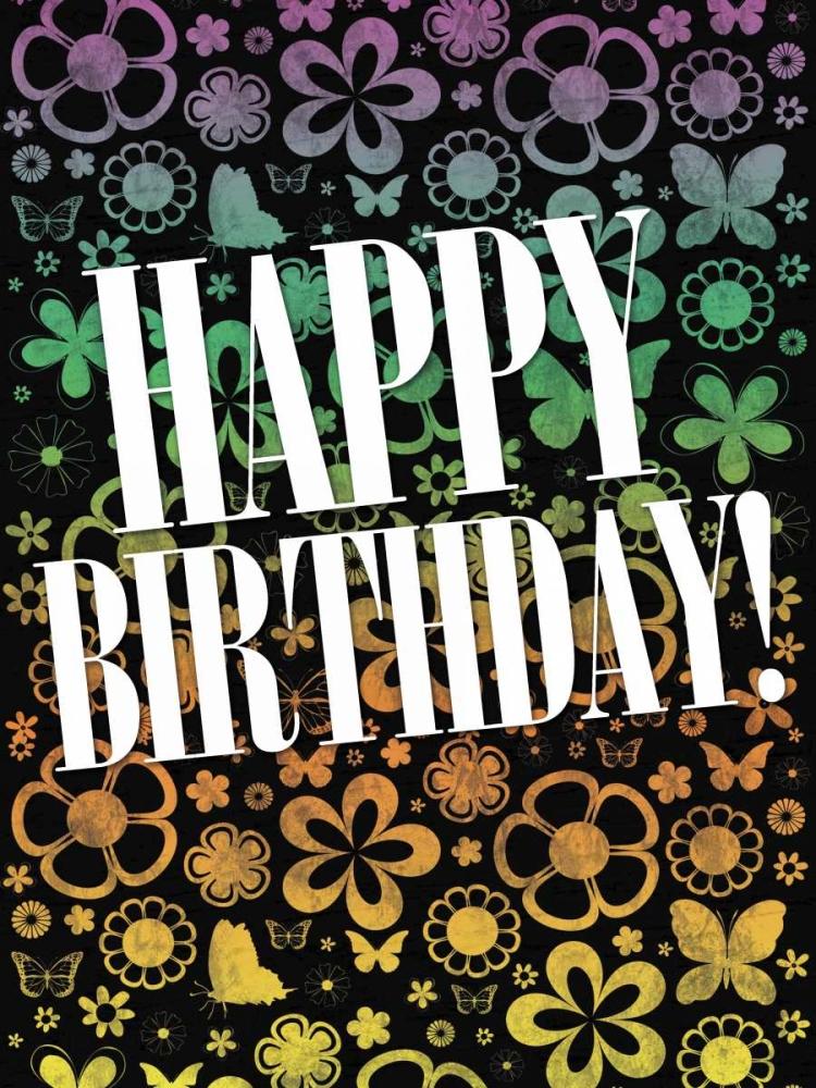 konfigurieren des Kunstdrucks in Wunschgröße Happy Birthday von Gibbons, Lauren