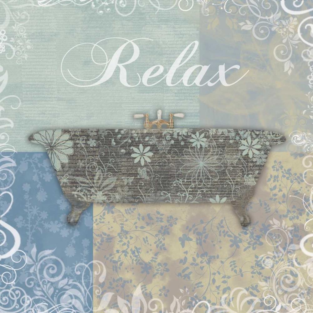 konfigurieren des Kunstdrucks in Wunschgröße Relax Bath Tub von Gibbons, Lauren