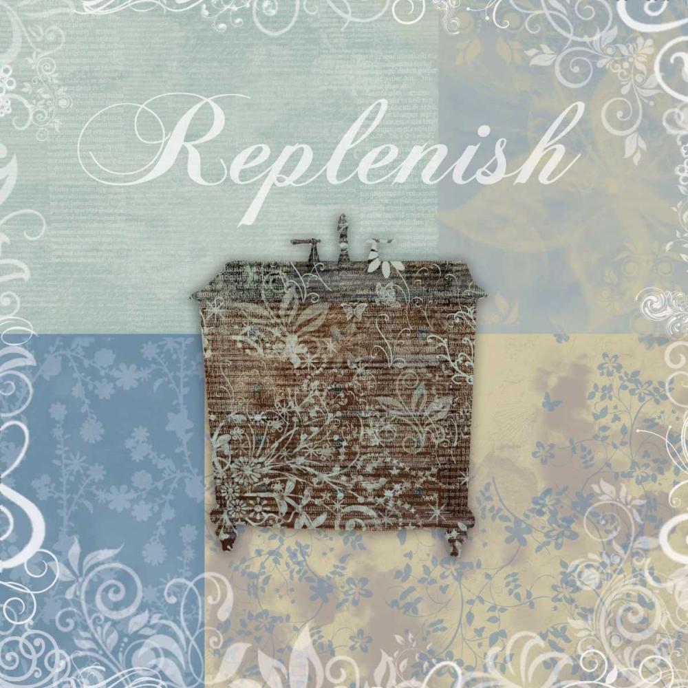 konfigurieren des Kunstdrucks in Wunschgröße Replenish Bath Tub von Gibbons, Lauren