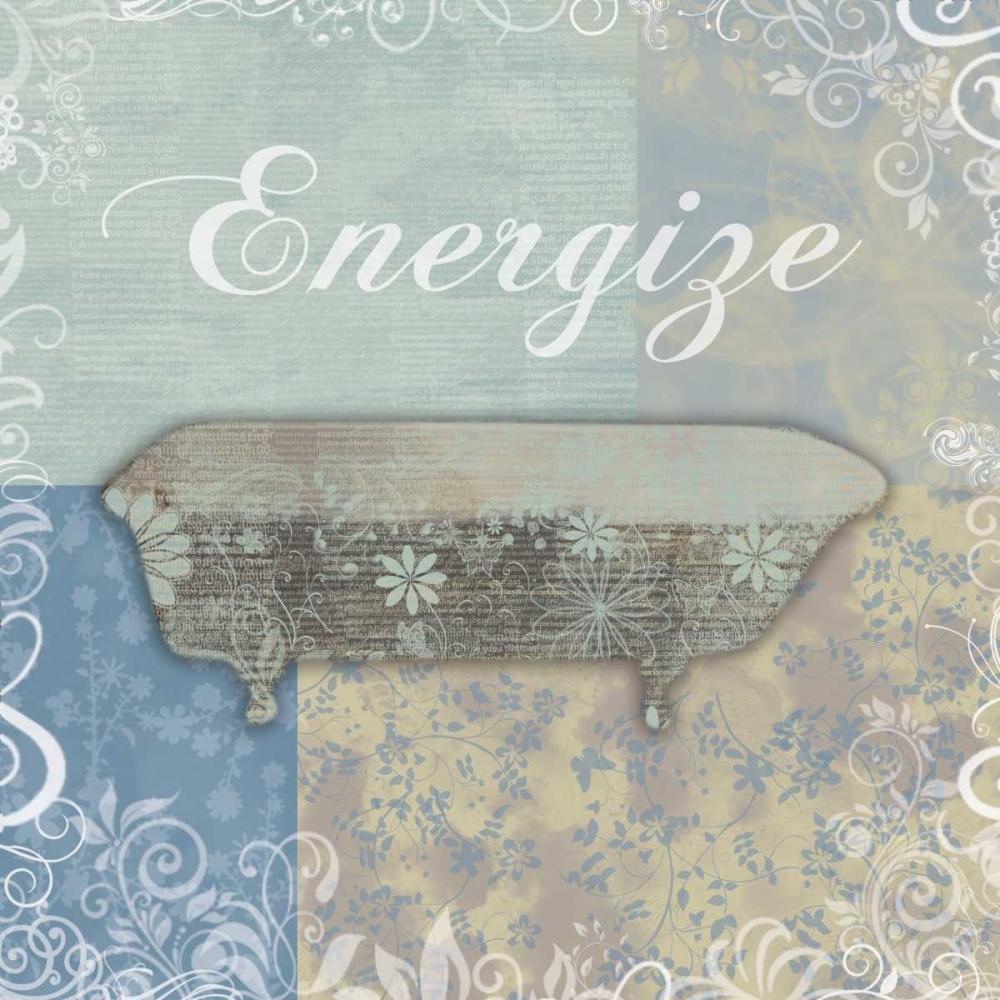 konfigurieren des Kunstdrucks in Wunschgröße Energize Bath Tub von Gibbons, Lauren