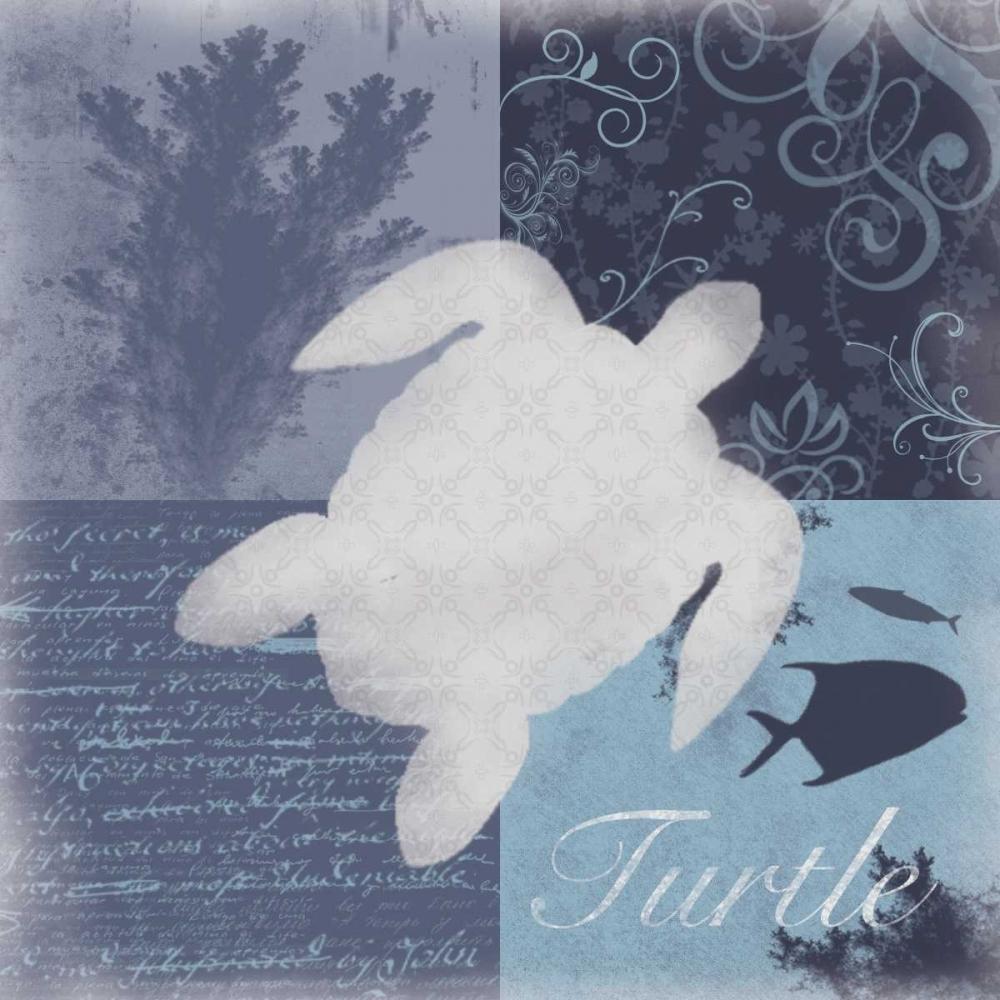 konfigurieren des Kunstdrucks in Wunschgröße Beach Turtle von Gibbons, Lauren