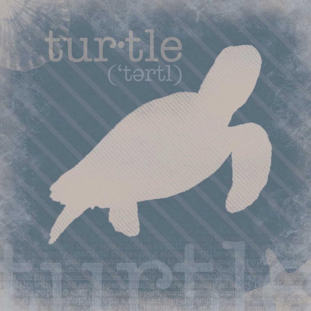 konfigurieren des Kunstdrucks in Wunschgröße Turtle Definition von Gibbons, Lauren
