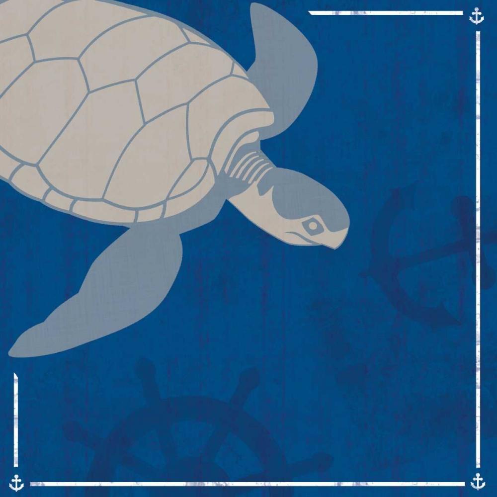 konfigurieren des Kunstdrucks in Wunschgröße Blue Sea Turtle von Gibbons, Lauren