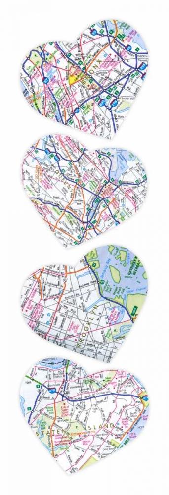 konfigurieren des Kunstdrucks in Wunschgröße Map To  Your Heart von Grey, Jace