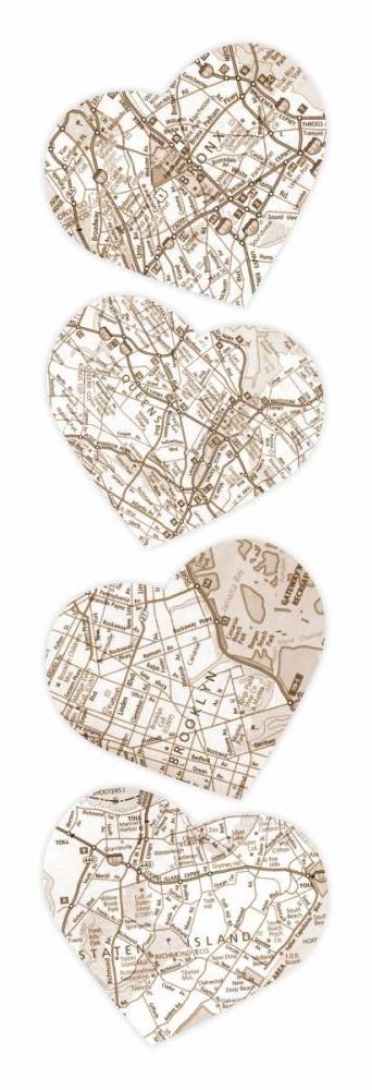 konfigurieren des Kunstdrucks in Wunschgröße Map To  Your Heart  2 von Grey, Jace
